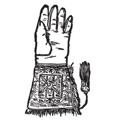 hawking glove vintage vector image