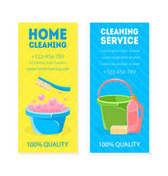 home cleaning service vertical banner card or vector image