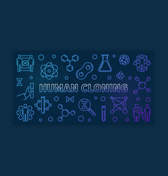 Human cloning colorful outline vector
