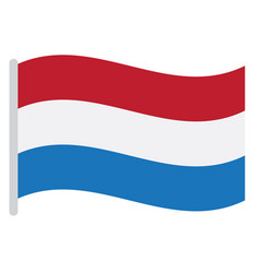 isolated dutch flag vector image