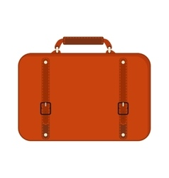 Journey suitcase travel red fashion bag trip vector image