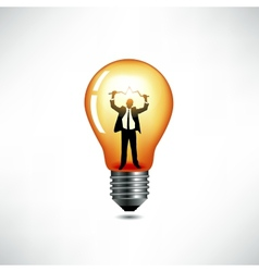 Light bulb The concept of idea vector image