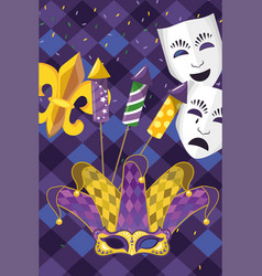 mardi gras elements vector image