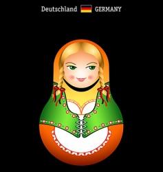 Matryoshka German girl vector