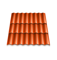 modern rocoverings corrugated rotile vector image