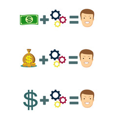 money can change your life - concept vector image