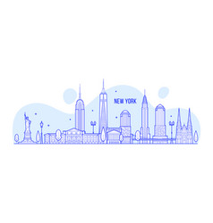 New york skyline usa city buildings vector