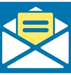 Open mail icon from Business Bicolor Set vector image