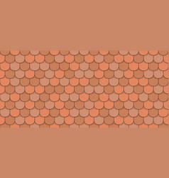 orange roof tiles vector image