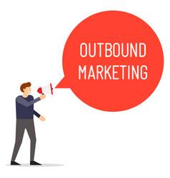 outbound marketing speech bubble vector image
