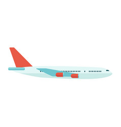 passenger travel airplane or airliner in the vector image