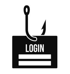 Phishing login icon simple style vector