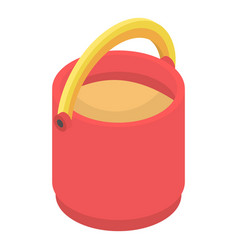 red sand bucket icon isometric style vector image