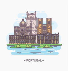 religious and medieval portuguese landmarks vector image