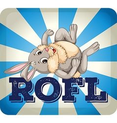 Rofl expression with rabbit vector