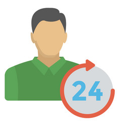 Round the clock customer care vector