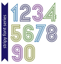 Sans serif geometric numbers created from parallel vector