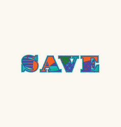 Save concept word art vector