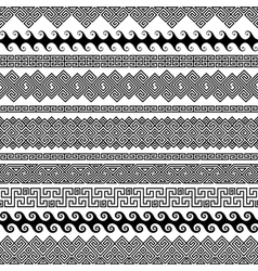 Set of modern seamless brushes for creating frames vector image