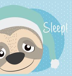 Sloth cute animal cartoon vector