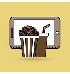 Smartphone cinema food fast design vector