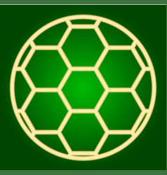 Soccer ball icon thin lines vector