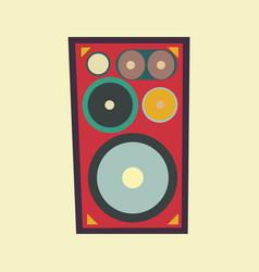 speaker retro style vector image