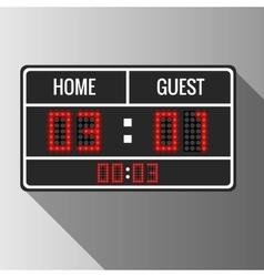 Sport scoreboard vector