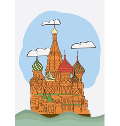 St Basil s Cathedral on Red square vector image