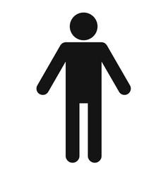 Stick figure stickman icon pictogram simple vector