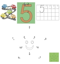 Task for children in mathematics The figure of vector