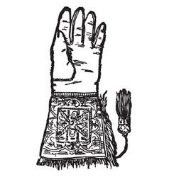 The hawking glove vintage vector