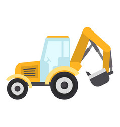 tractor bucket icon flat style vector image