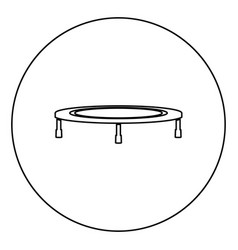 Trampoline jumping for bounce icon in circle vector