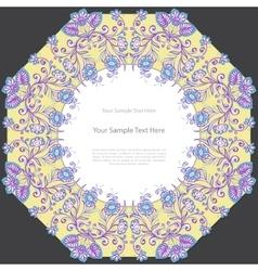 Vintage floral square frame vector image vector image