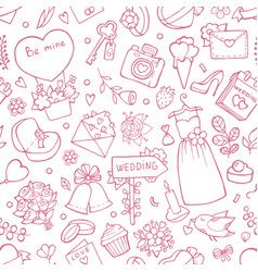 wedding seamless pattern background with vector image