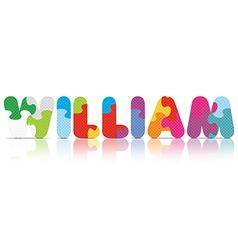 WILLIAM written with alphabet puzzle vector