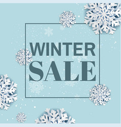 winter sale poster vector image