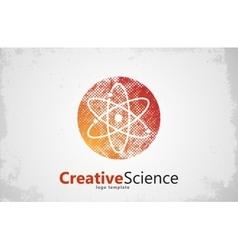atom symbol atom logo design color atom science vector image vector image