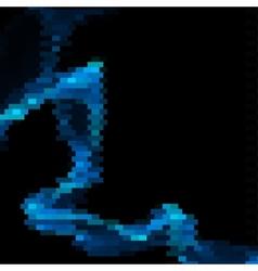 Bended blue line made of blue bricks vector image