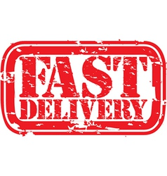 Fast Delivery stamp vector image vector image