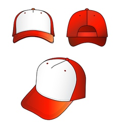 red-white cap vector image vector image