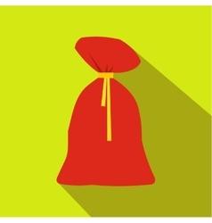 Santa claus big bag icon vector image
