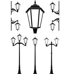 vintage street lanterns vector image vector image