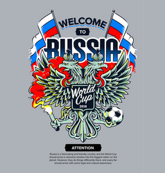 Welcome to russia art vector