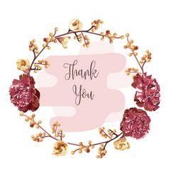 wreath of flowers in romantic vector image