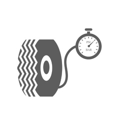 Car tire and compressor vector image vector image