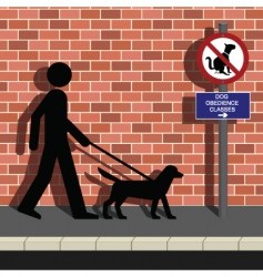 dog obedience classes vector image vector image