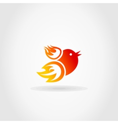 Fire a bird vector image vector image