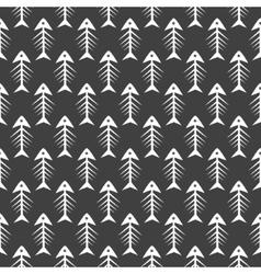Fishbone monochrome seamless pattern vector image